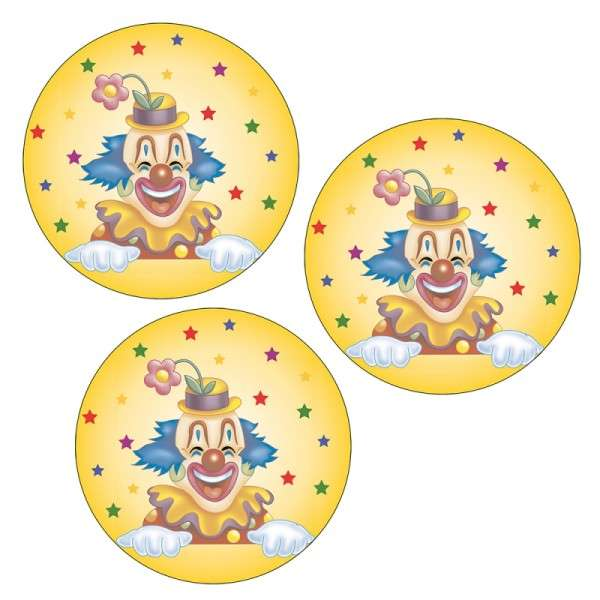 Esspapieraufleger Clown 4cm 1000Stück