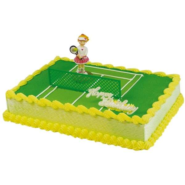 Motivtorte Tortendekoration Tennis Spielerin Happy Birthday