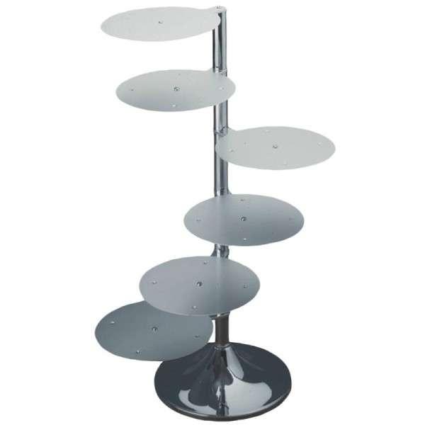 Aluminium Tortenständer 6 Etagen 3 Plattengrößen Höhe 1040mm