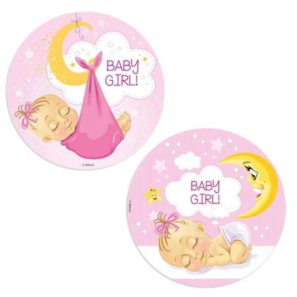 Baby Mädchen - Esspapieraufleger 20cm 12 Stück