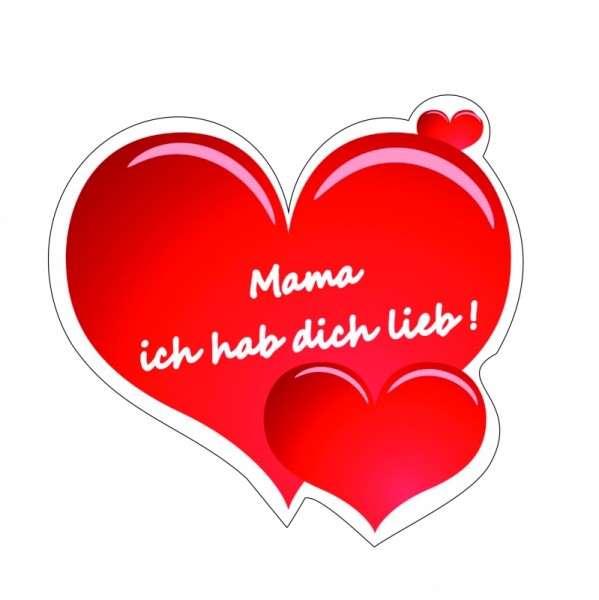 """Zuckeraufleger 100mm großes Herz """" Mama ich hab dich lieb!"""""""