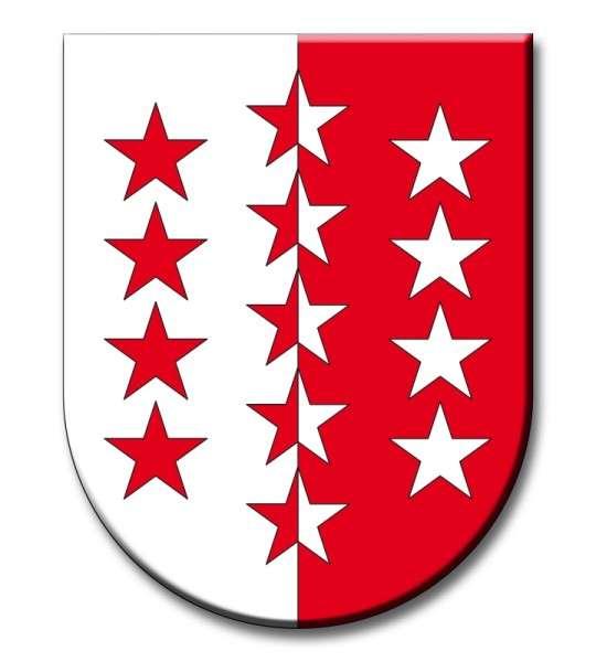 Zuckeraufleger Wappen Wallis