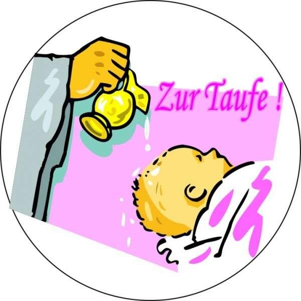 """Zuckeraufleger 10 cm """"Zur Taufe- Mädchen"""" SB-1-700010"""