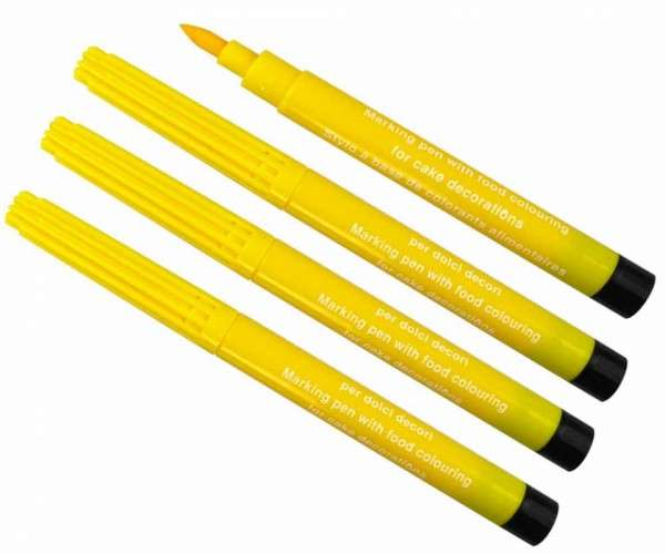 4x Lebensmittelstift Gelb