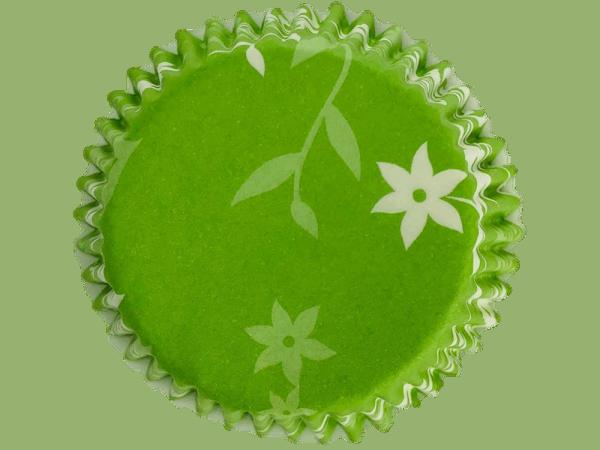Muffinförmchen Blumenranke grün 50 Stück 50 x 35 mm