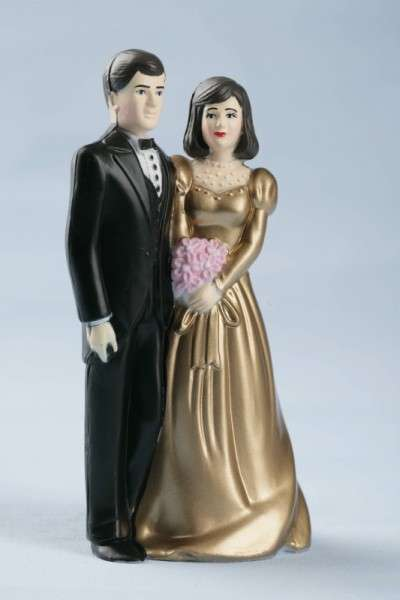 Tortendekoration Brautpaar Goldhochzeit