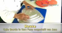 Tortenplatte Herz ca.350mm Cake Board silber ca.10mm dick 5 Stück
