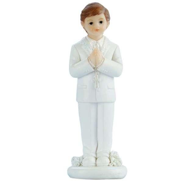 Tortenfigur Kommunionjunge weißer Anzug stehend ca.82mm