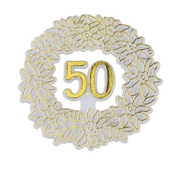 Tortendekoration Goldhochzeit 50.Jubiläum