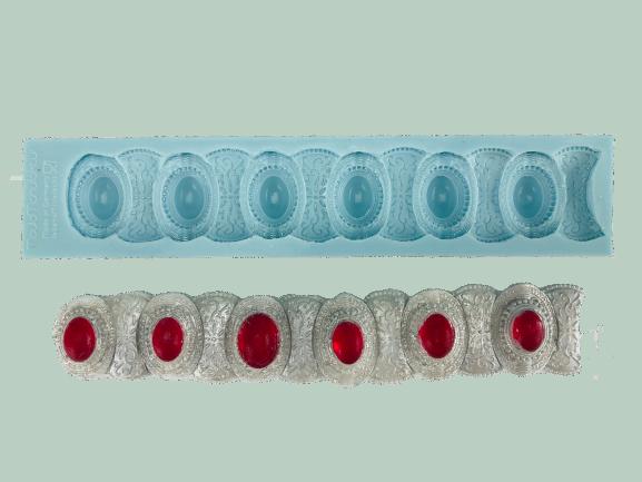 Silikonform für Fondant und Flowerpaste Broschenband