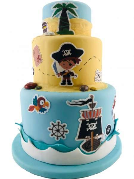 Kuchen Tattoo Piraten Junge Fondant Tortendeko