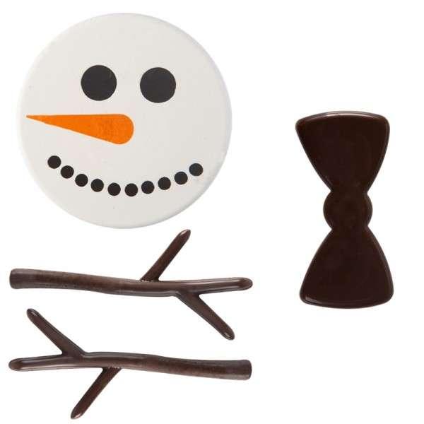 """Schokoladendeko """" Schneemann"""" 30 Sets"""
