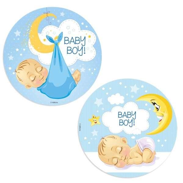 Baby Junge - Esspapieraufleger 20cm 12 Stück