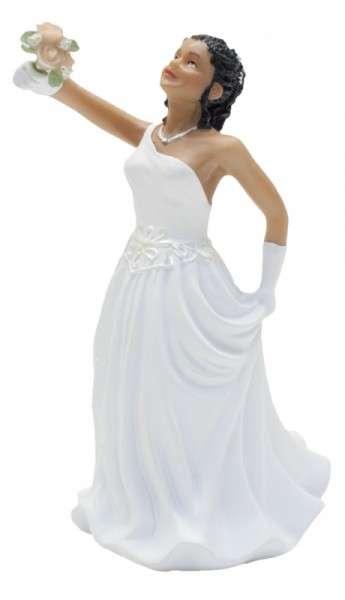 Hochzeitsfiguren Braut dunkelhäutig