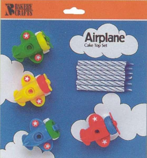 Motivtorten Dekoration Kerzenhalter Flugzeug Tortendekoration