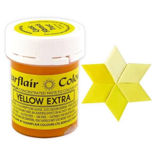 Gelfarbe Pastenfarbe Sugarflair Extra Gelb 400g