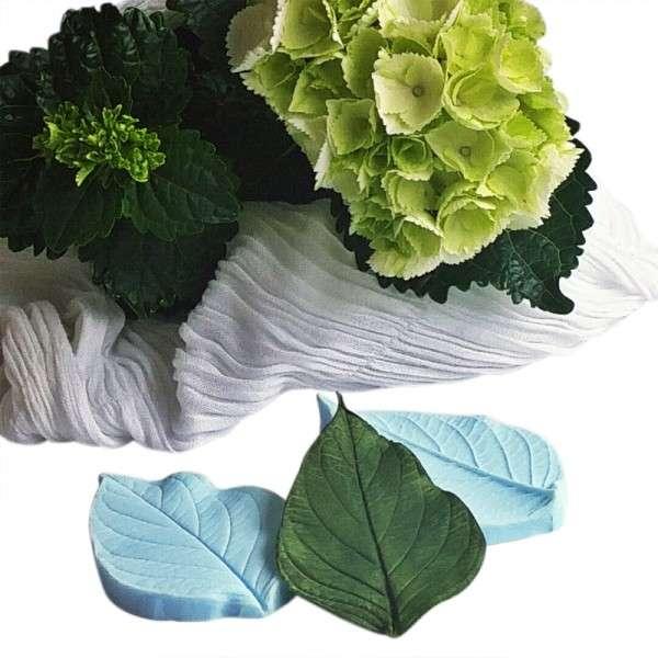 """Veiner """"Hortensie Blatt L"""" ca.7 x 8 cm ( Hydragea,Heart shape leaf L)"""