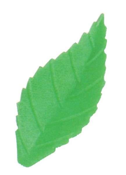 Blätter gezackt grün klein 38mm 500 Stck Esspapier