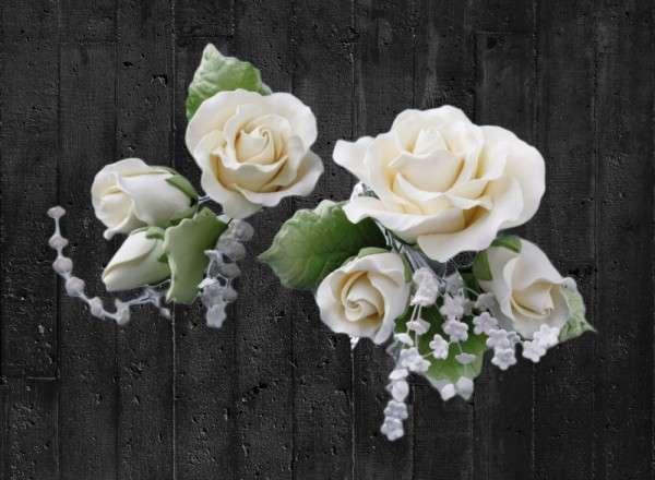 Zuckerblumenbouquet Rosen 2 Stück