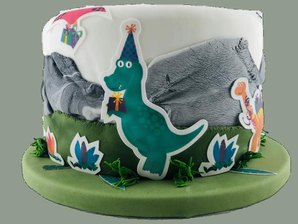 Kuchen-Tattoos Dinosaurier