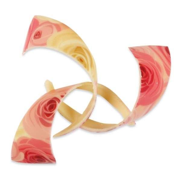 Schokoladendeko Spirale Rosen Länge 90mm 69 Stck