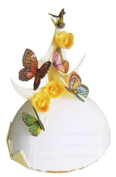 Schmetterlinge Esspapier 260 Stück verschiedene Größen
