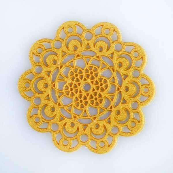 """Sweet lace-pearl gold """"Rosette"""" ca.5cm essbare Spitze - fertig zum Gebrauch"""