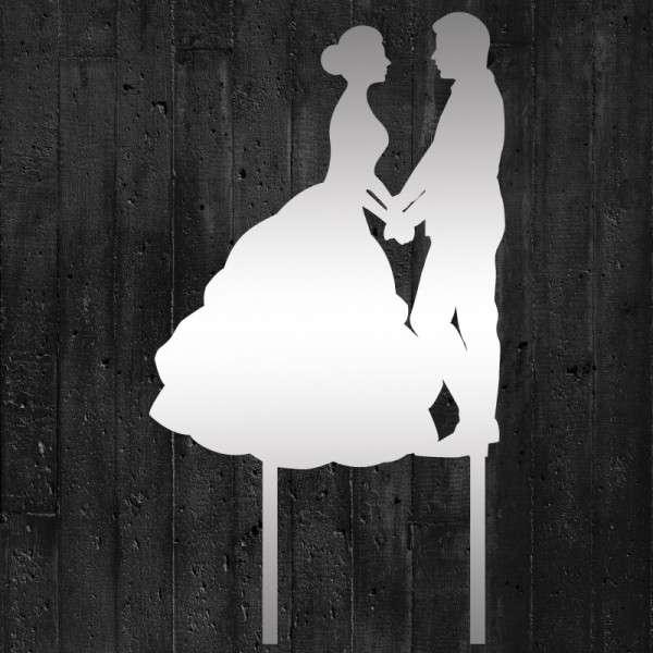 """Cake-Topper """"Brautpaar Hand in Hand"""" Acryl Spiegel"""