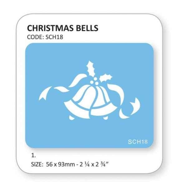 """Schablone """"Weihnachtsglocken"""""""