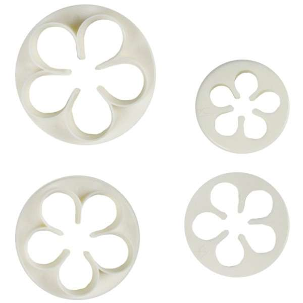 Ausstecher Blütenblatt / Rose COXIMUS 4-teilig Größe 50, 42, 35, 30mm