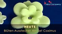 4'er Set Ausstecher 5-blättrige Blüte mit Auswurf