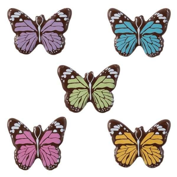 Schokoladendeko Schmetterlinge Bunt