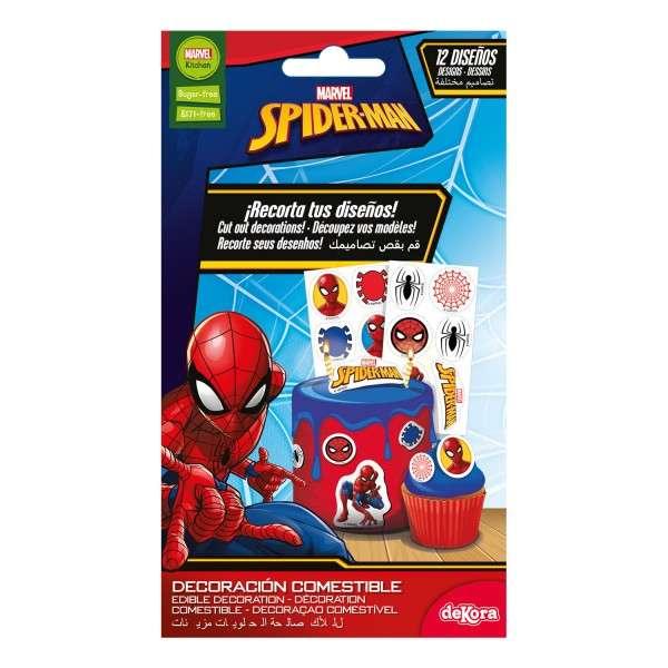 Tortenaufleger Spiderman klein 3,4 cm 16 Stück
