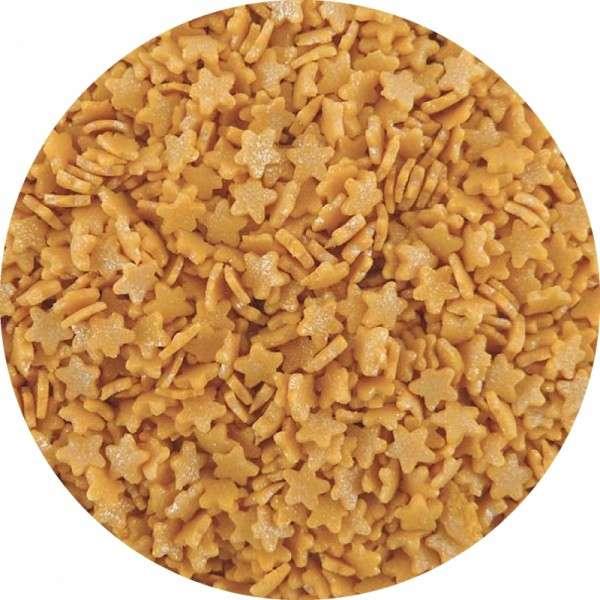 Zuckerkonfetti -Sterne mit Goldglanz ca.6mm 700g