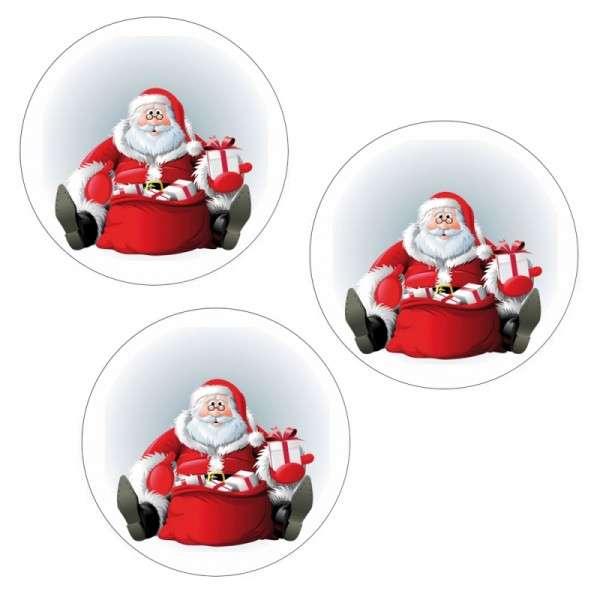 """Esspapieraufleger """"Weihnachtsmann mit Brille"""" 4cm"""