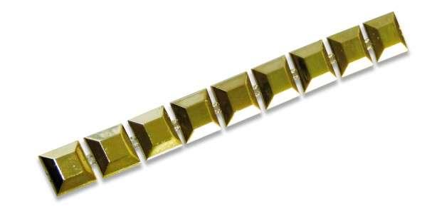 Schmuckborte Strass gold 10mm Rolle 9m