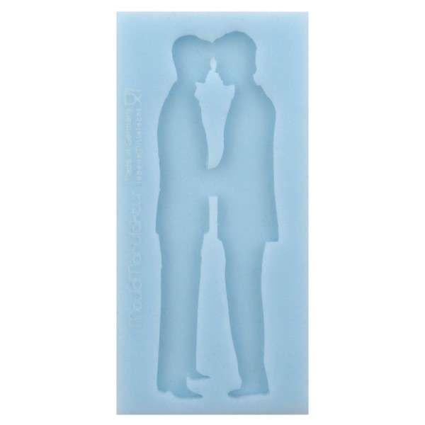 "Silikonform ""Silhouette Brautpaar M/M"" ca . 6 x 12 x 0,3 cm Figuren 11cm"