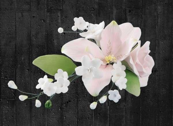 Zuckerblumenbouquet Rosen-Lilien