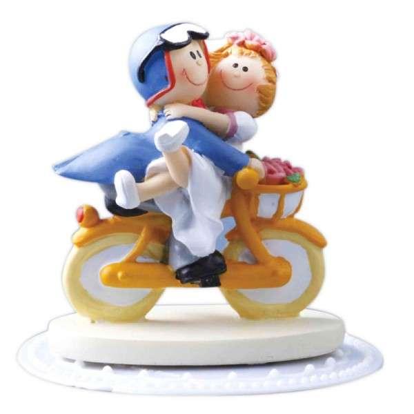 Hochzeitstorte Tortendekoration Hochzeit Brautpaar auf Fahrrad