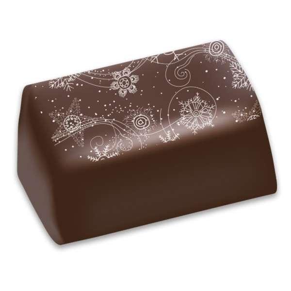 Transferfolie für Schokolade Motiv Schneekristalle 30x40cm 30 Blatt