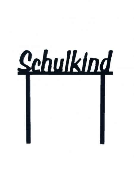 """Cake-Topper zur Einschulung """"Schulkind"""" schwarz"""
