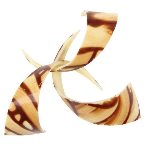Schokoladendeko Spirale braun geflammt Länge 90mm 69 Stck