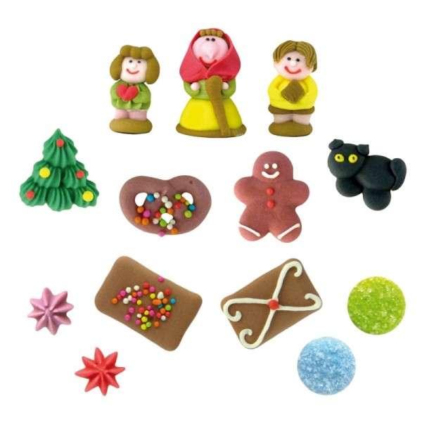 Zuckerfiguren Hexenhaus Weihnachtsdekoration