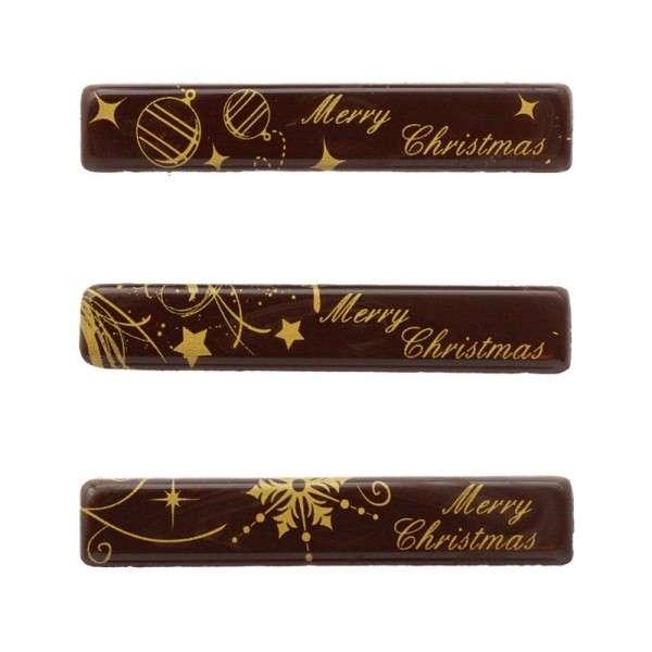 """Schokoladendeko """"Frohe Weihnachten"""" 80 x 15mm 120Stck"""