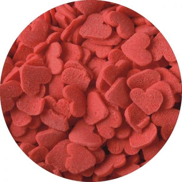 Zuckerkonfetti Herzen Rot 700g