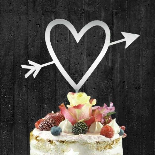 """Cake-Topper """"Herz mit Pfeil """" Ayryl SPIEGEL"""