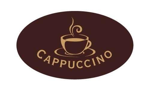 Tortendekoration Schokoladenaufleger Cappuccino