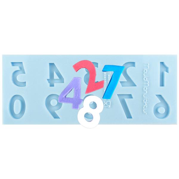 Silikonform Zahlen Standard