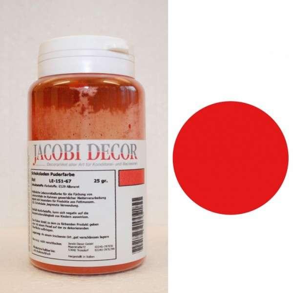 Puderfarbe rot 25g fettlöslich