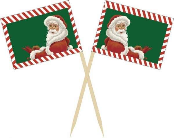 Muffindekoration Weihnachtsmann Fahne